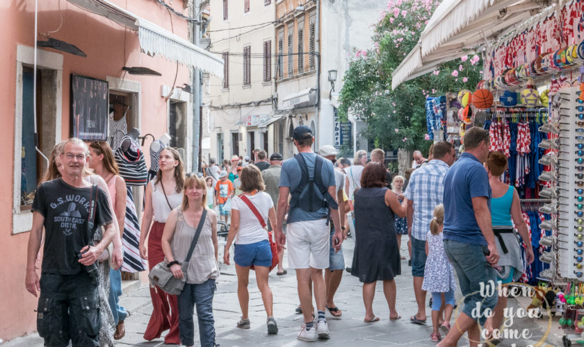 Tourists in Pola during summer